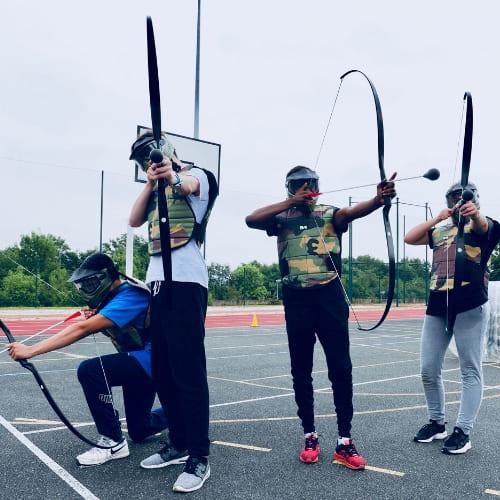 Archery tag, archery game team building
